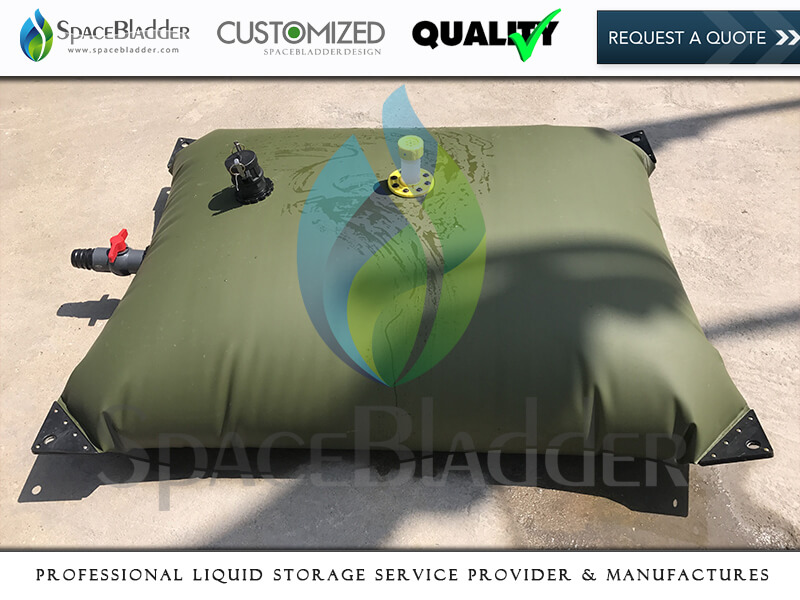 500L TPU Army Green Color Pillow Drinking Water Bladder Tank For Emergency Rescue